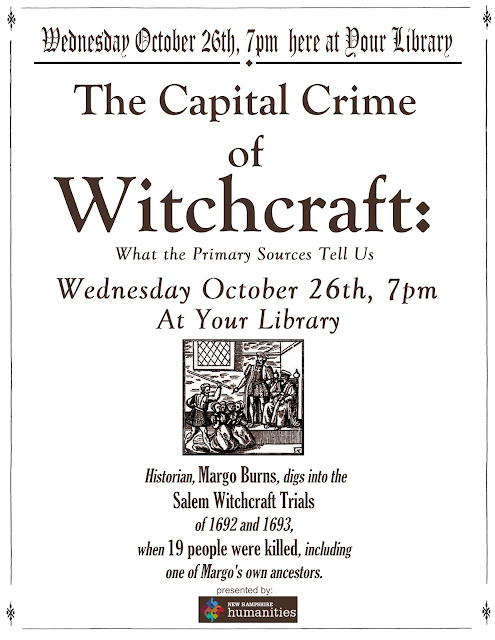"""The Capital Crime of Witchcraft: a Tell All"" October 26, 2016"