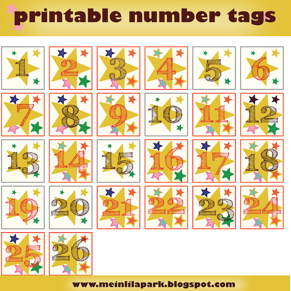 photo relating to Advent Calendar Numbers Printable named No cost printable introduction calendar quantities - Zahlen für