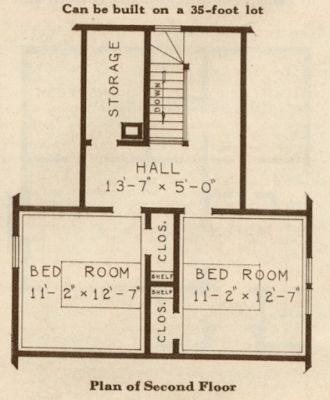 sears catalog 1930s floor plan