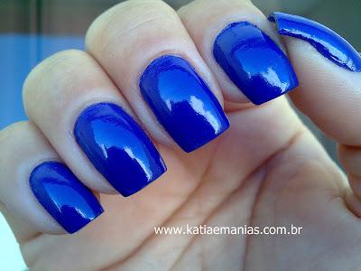 Apipila, Azul, carimbada, glitter, katiaemanias, Nail Plus, Novo Toque,