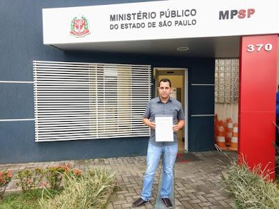 Vereador Vander Lopes entra com representação no MP sobre suposta cobrança irregular do lançamento de IPTU de Registro-SP