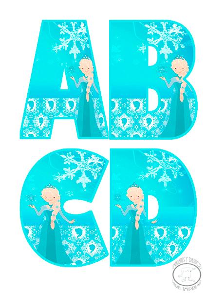 Abecedario Tipo Elsa de Frozen. Elsa´s Style Alphabet.