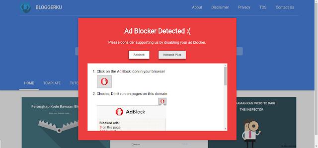 Anti Adblock Bloggerku