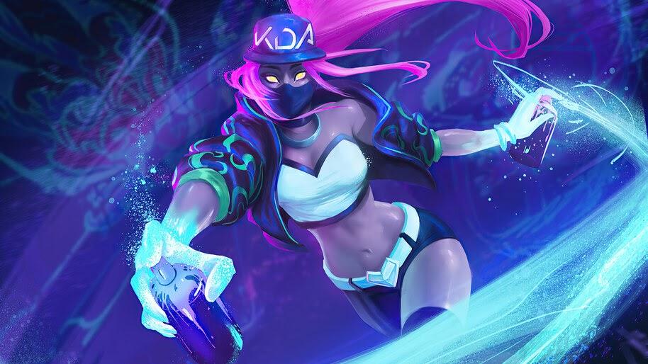 K/DA, Akali, Neon, LoL, 4K, #5.2655