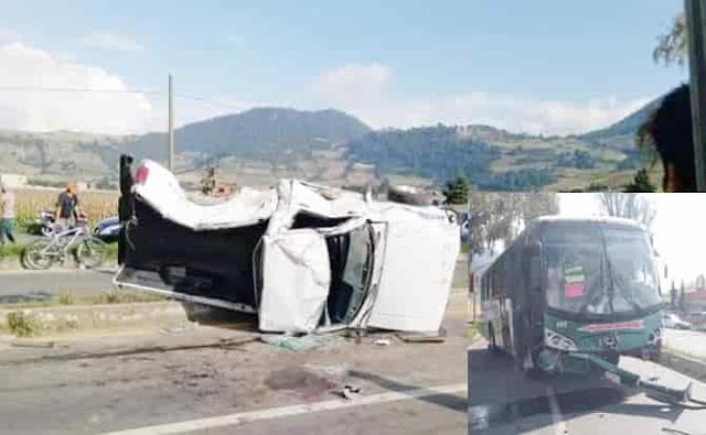 Volcadura, Tenango, accidente