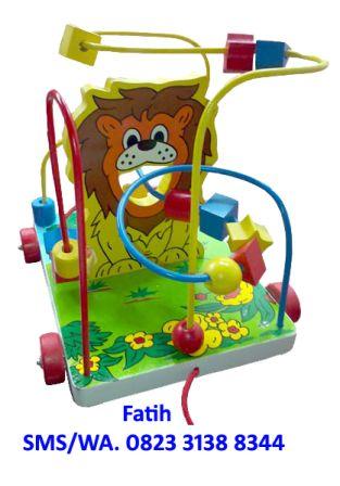 Mainan Kayu Wire Game Singa