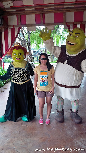 Fiona and Shrek at Universal Studios Singapore