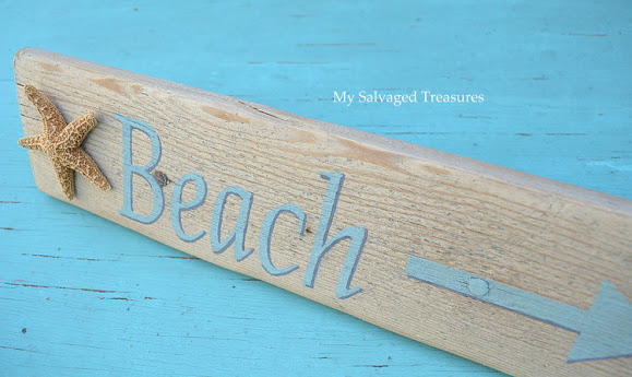 how to make a beach and starfish sign