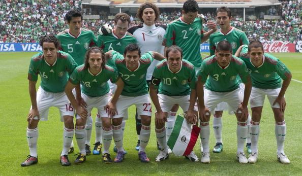 Formación de México ante Chile, amistoso disputado el 16 de mayo de 2010