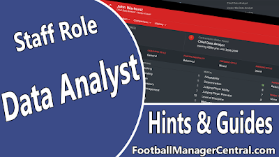 Football Manager 2017 - New Staff Role - Data Analyst