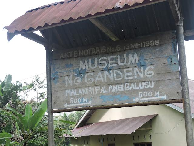 Papan Akses Lokasi Wisata Museum Ne Gandeng