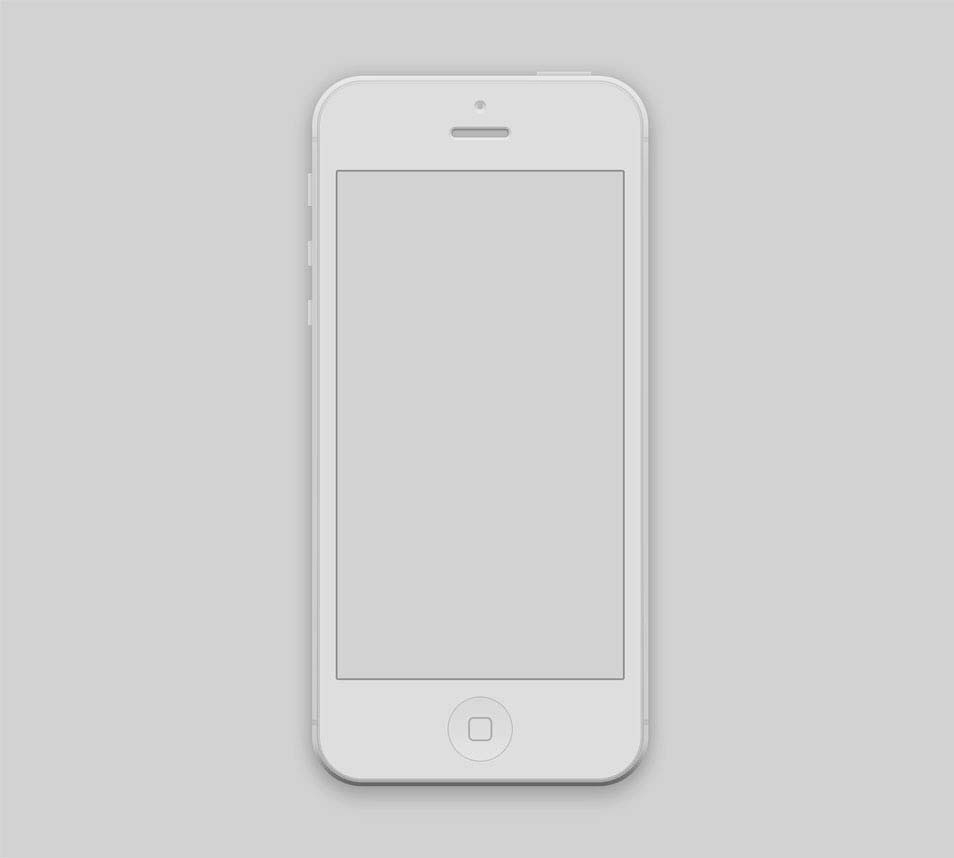 iPhone 5 Mockup Design