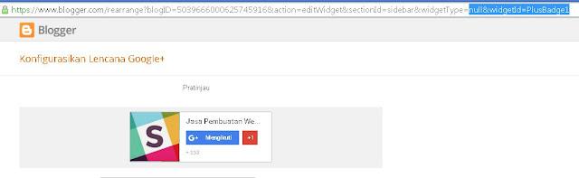 Jawab : Widget  Google+ Tidak Muncul Di Blogger