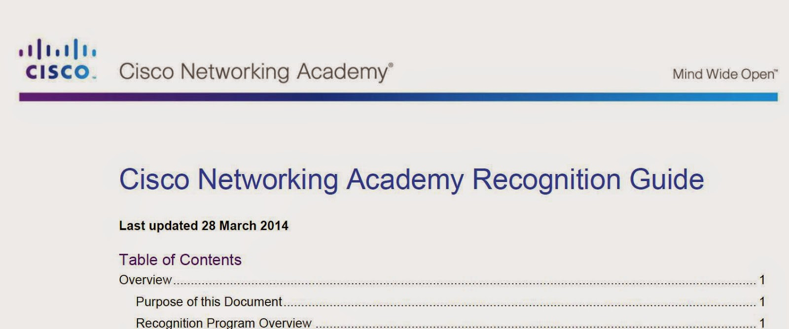 Cisco Networking Academy Recognition Guide
