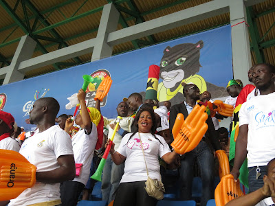 Ghana fans give their team a big hand.
