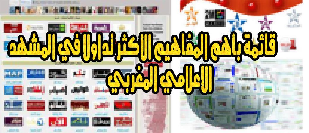 قائمة بأهم المفاهيم الأكثر تداولا في المشهد الإعلامي المغربي