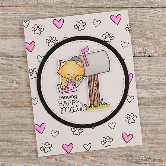Cat in Mailbox Card by Juliana Michaels | Newton's Happy Mail stamp set by Newton's Nook Designs #newtonsnook #happymail