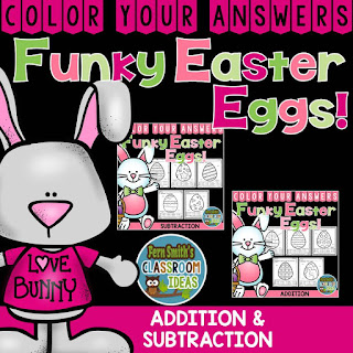 Color Your Answers - Easter - Addition and Subtraction