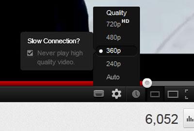 mengubah kualitas video di youtube