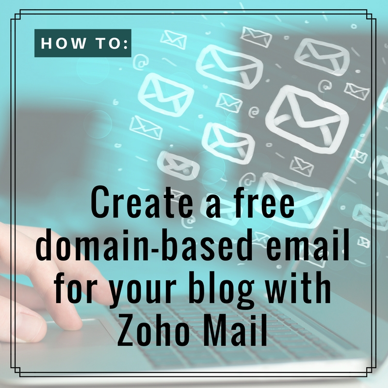Create domain-based Zoho email