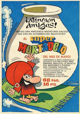 Publicidad de Super Mortadelo, por Sagasty