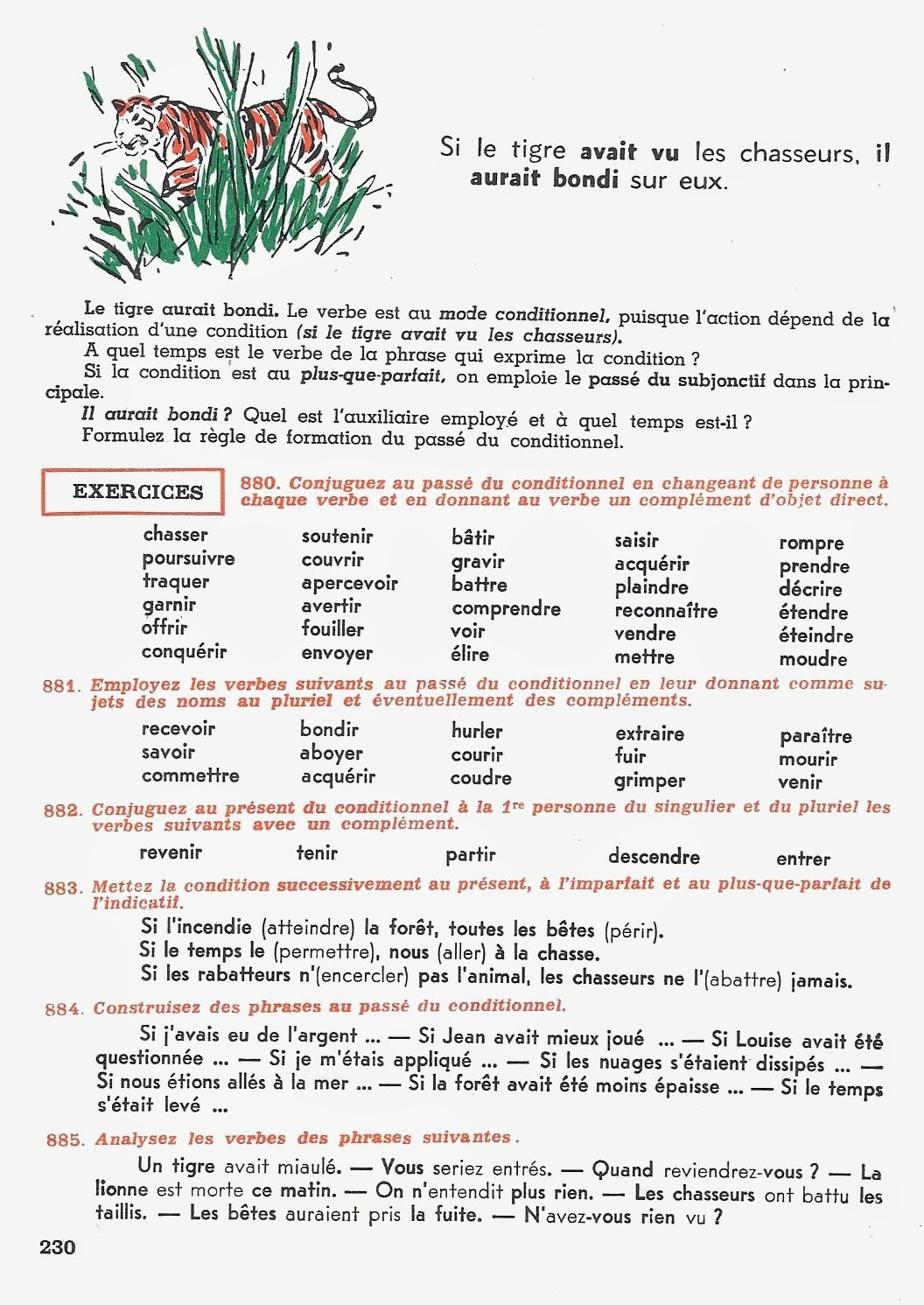 manuels anciens  conjugaison cm 1955