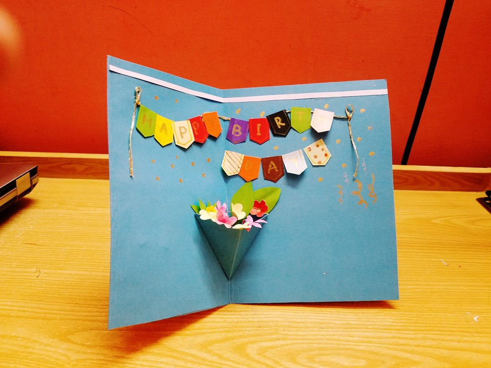 Magnificent Gs Craft Diy Popup Birthday Card Tutorial Funny Birthday Cards Online Fluifree Goldxyz
