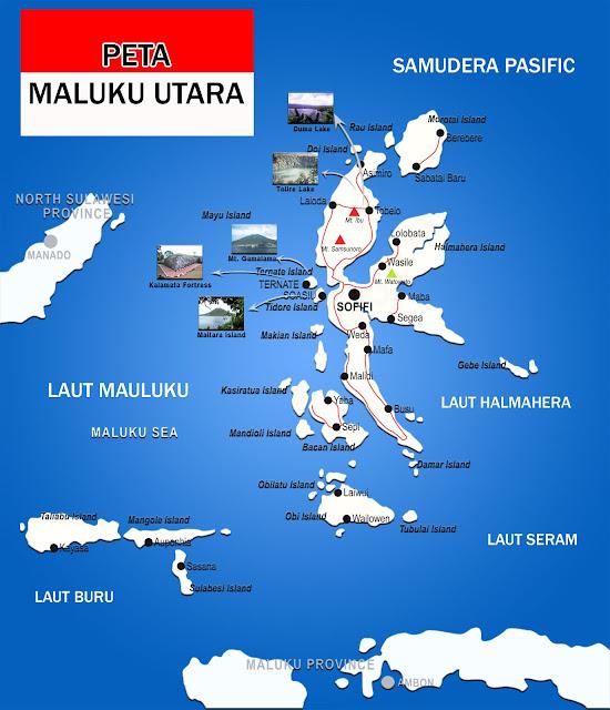 Gambar Peta Maluku Utara lengkap
