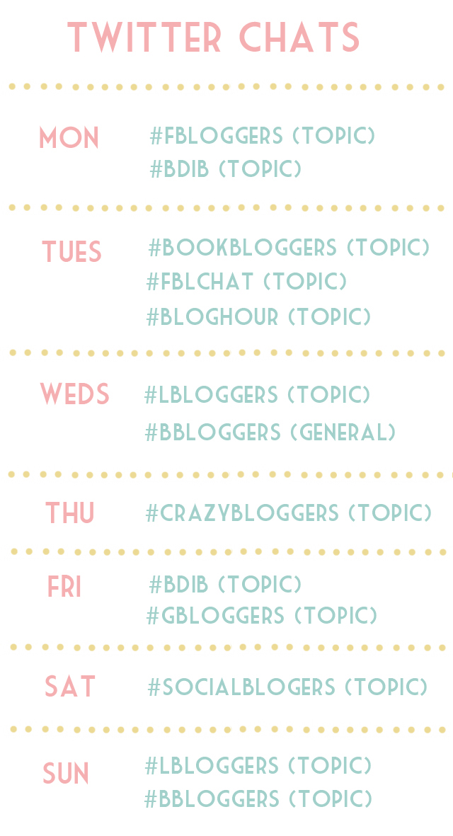 Twitter Chat blogger timetable
