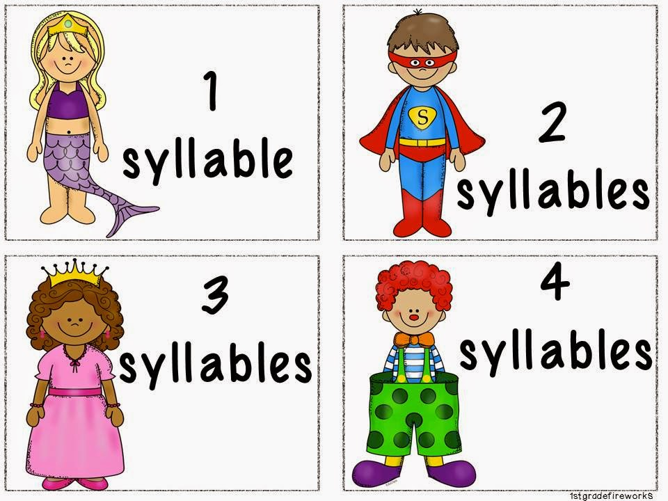 Syllable Task Cards from Trick or Treat October Centers 1stgradefireworks