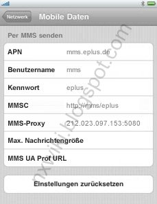 iPhone iPad mms einstellen AY YILDIZ