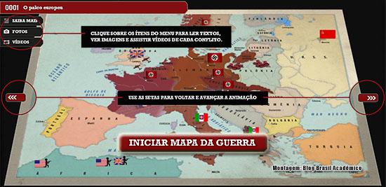 Mapa animado da Segunda Guerra Mundial