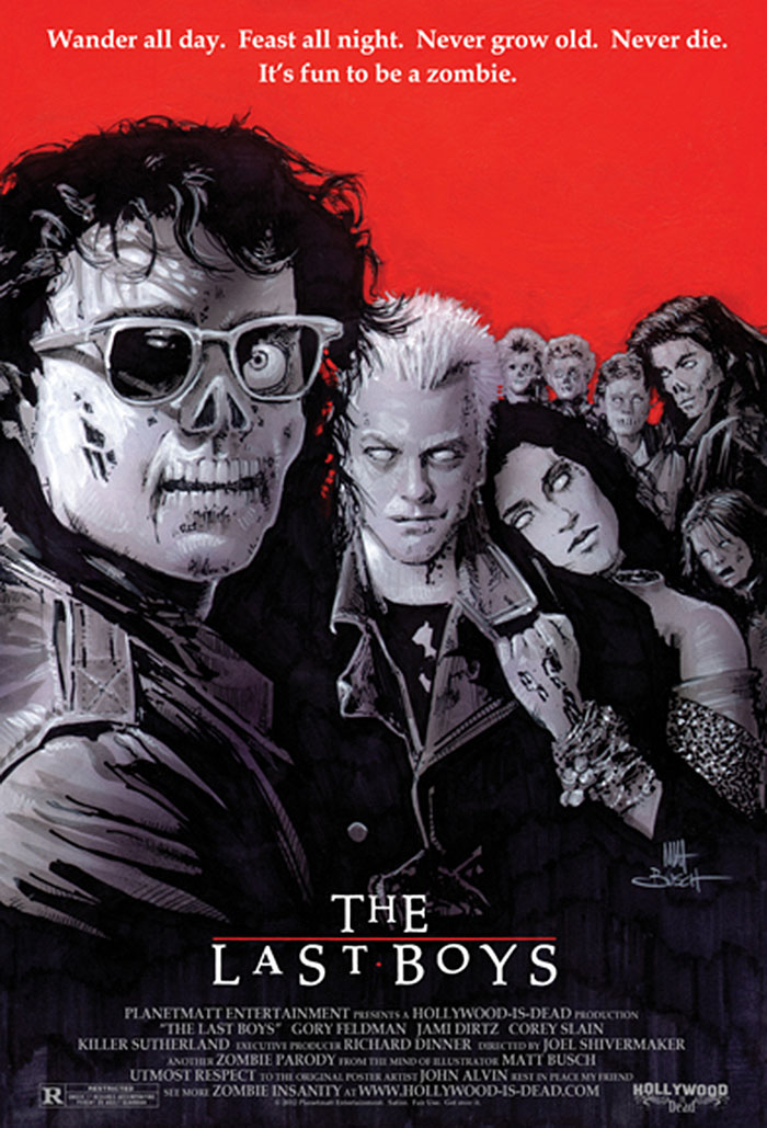 classic 80s movie posters get the zombie treatment in the