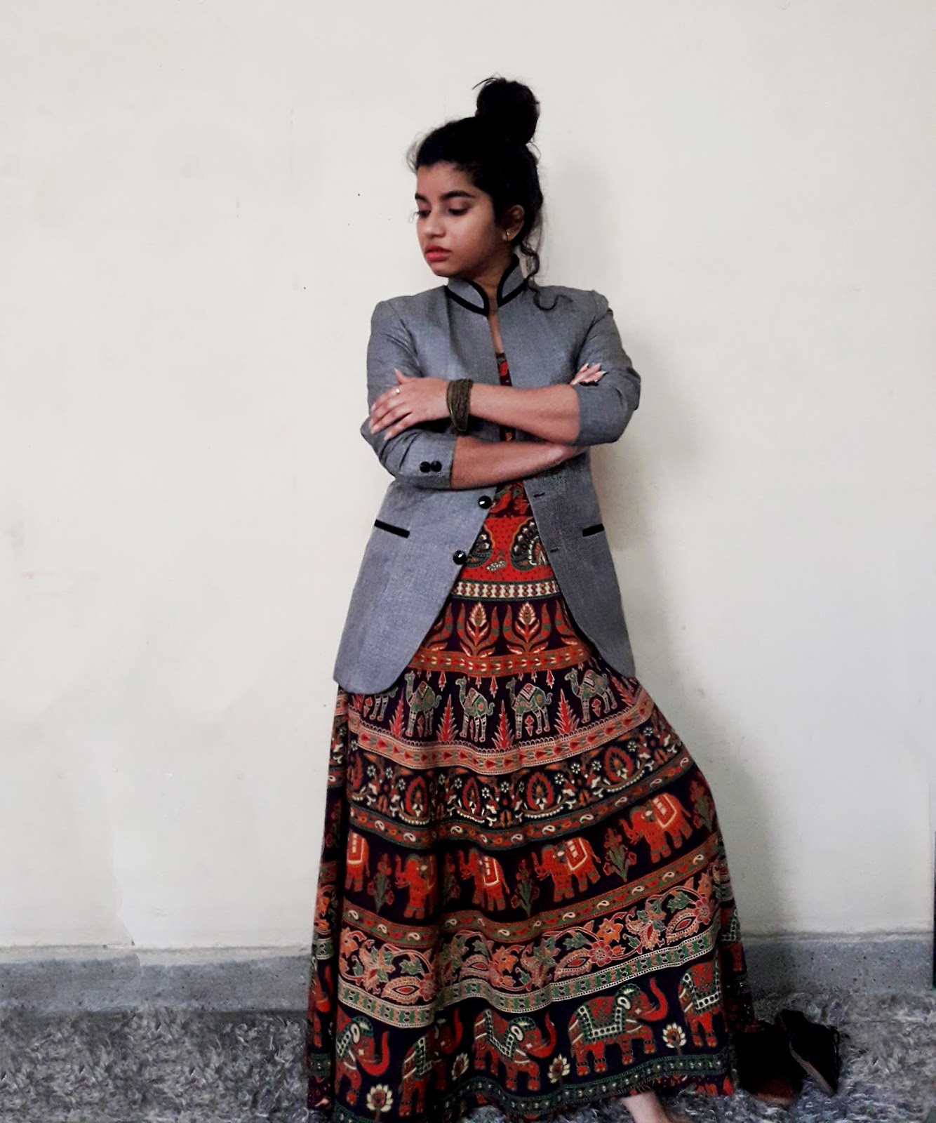 3 Ways to Style a basic Rajasthani maxi dress