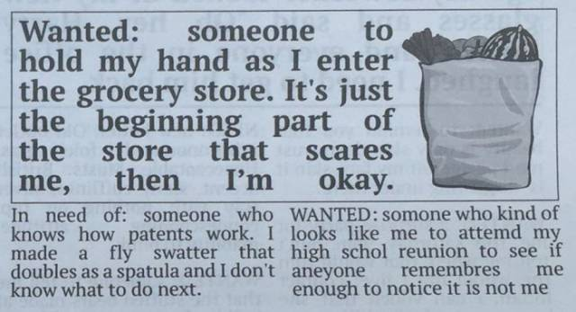 funny newspaper classifieds