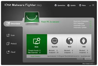 IObit Malware Fighter Pro 4.5.0.3457 Full Version & Keygen