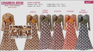 Longdress afiyah motif batik yang cantik dan anggun-afiyah 1