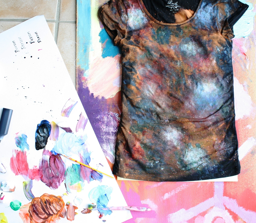 hungryhippie sews: DIY Galaxy Nebula t-shirt tutorial