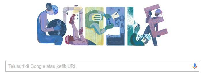 1 Mei Hari Buruh Internasional Juga Di Peringati Google Doodle