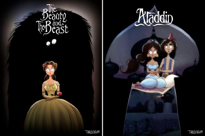 Disney like Burton by Tarusov Дисней в стиле Бёртона от Тарусова