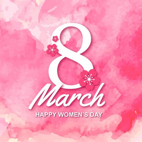 8 march Happy International Womens Day free vector