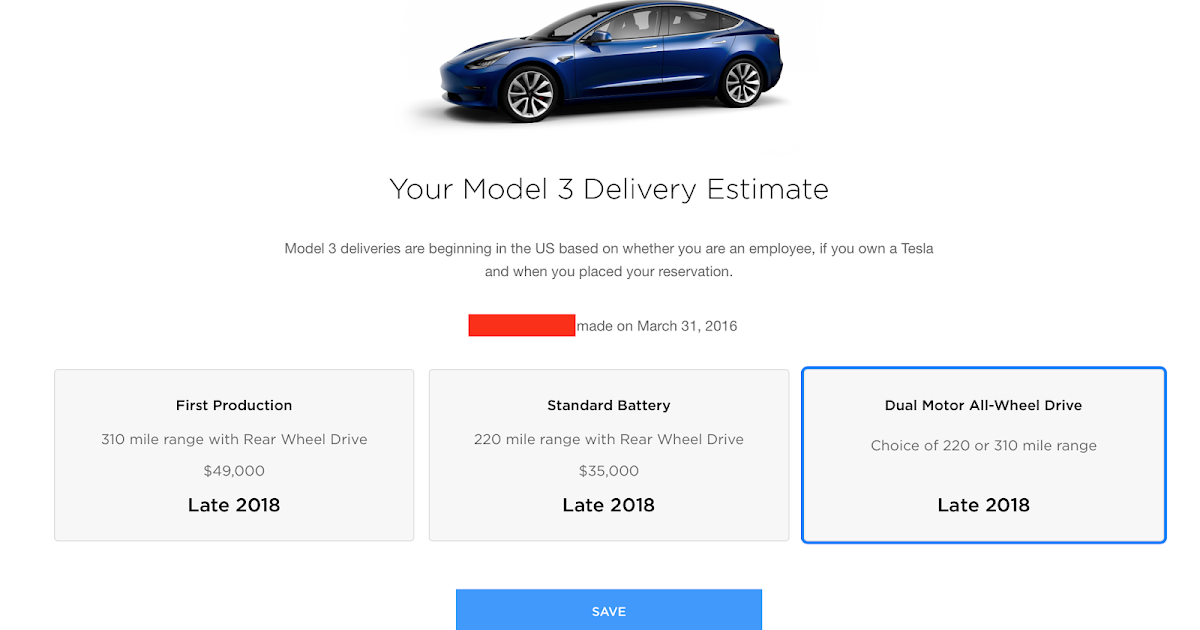 Cornucopia   Billigaste Tesla Model 3 kommer kosta 430 000 - SEK - leverans  slutet 2018 fafb6f96300a3