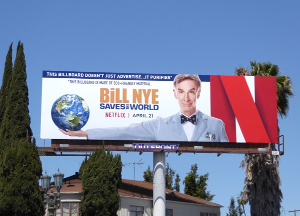 Bill Nye Saves the World series premiere billboard