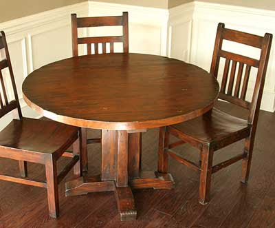 Pleasing Woodworking Plans Round Dining Table Interior Design Ideas Gentotryabchikinfo