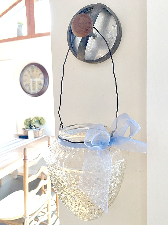 Vintage Ceiling Light Shade Repurposed Lantern