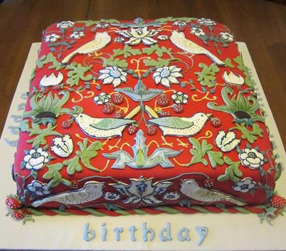 Barbara Brackmans MATERIAL CULTURE Happy Birthday William Morris - Birthday cake barbara