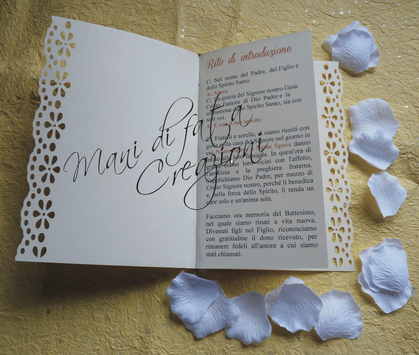 Famoso Mani di Fata Creazioni: Libretto messa - fiori TZ38