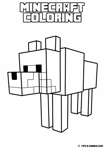 Free Minecraft Coloring Pages Image