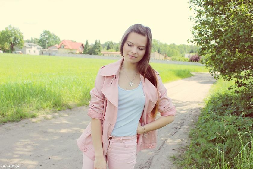❀ Szaro - różowy zestaw.