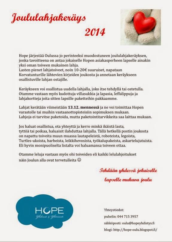 HOPE / Oulun paikallistoiminta